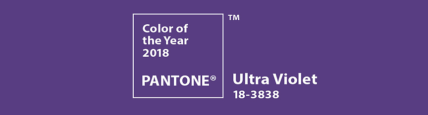 Image of Pantone Ultra Violet color of the year 2018