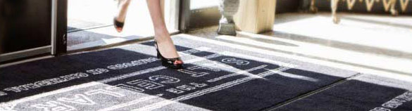Image of woman walking on mat