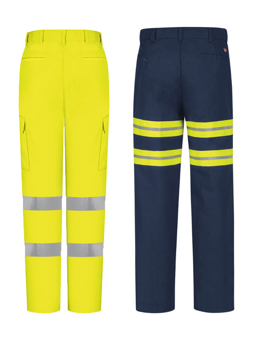 Hi visibility and enhanced visibility image of pants