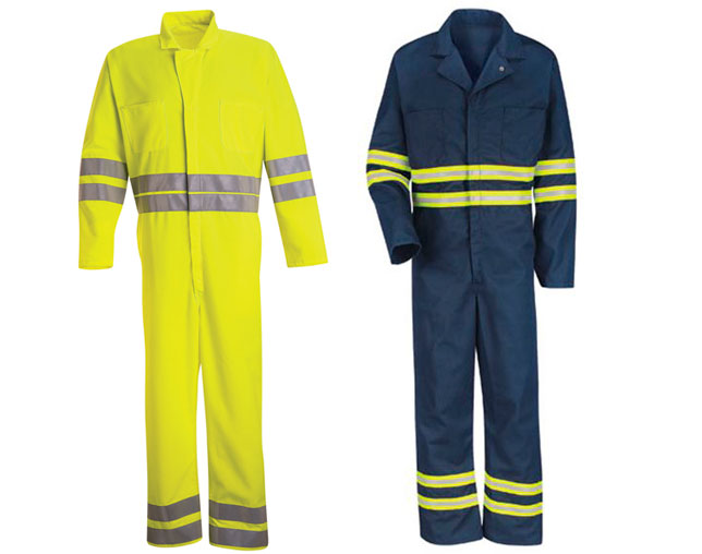 Hi-visibility and enhanced visibility coveralls